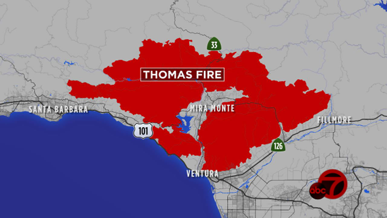 What If The Thomas Fire Burned The Bay Area Abc7news Com