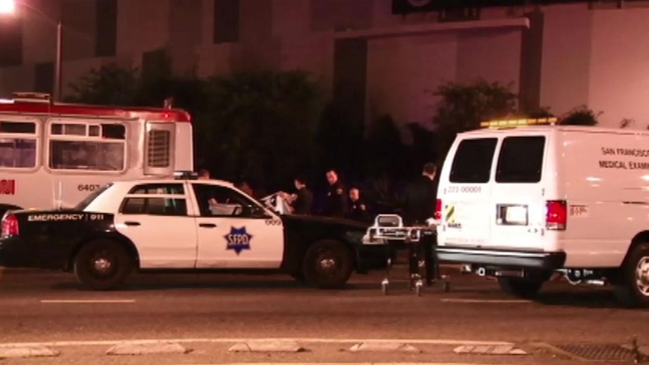 Pedestrian fatally struck by Muni bus on Geary Boulevard