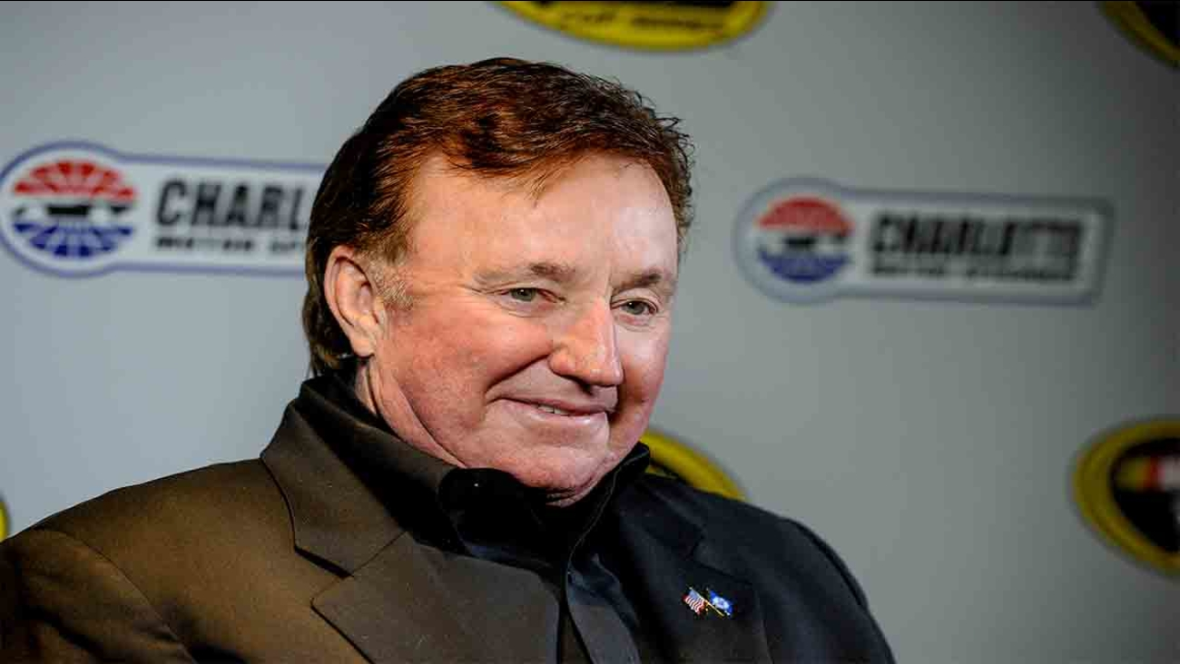 In this file photo, team owner Richard Childress talks to members of the press during the NASCAR Charlotte Motor Speedway Media Tour