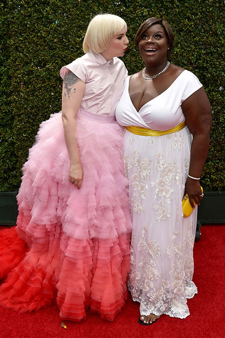 "<div class=""meta image-caption""><div class=""origin-logo origin-image ""><span></span></div><span class=""caption-text"">Lena Dunham and Retta (John Shearer/Invision for the Television Academy/AP Images)</span></div>"