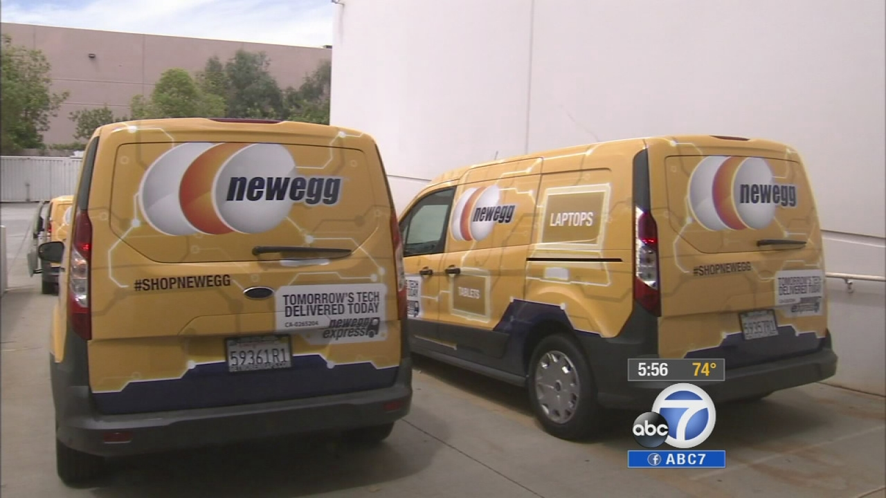 Local online retailer Newegg is taking on the big boys when it comes to same-day delivery.
