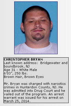 Most wanted photos from the Hunterdon County Prosecutor