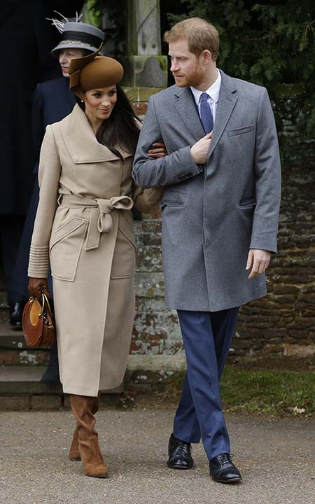 "<div class=""meta image-caption""><div class=""origin-logo origin-image ap""><span>AP</span></div><span class=""caption-text"">Meghan Markle and Prince Harry greet well wishers following the traditional Christmas Day church service, at St. Mary Magdalene Church in Sandringham, England on Dec. 25, 2017. (AP Photo/Alastair Grant)</span></div>"