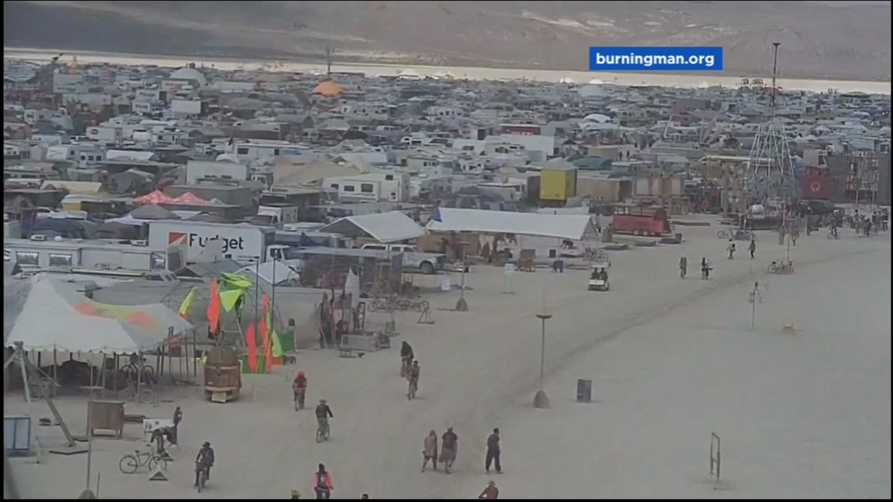 This is an undated image of the Burning Man Festival in Black Rock City, Nevada.