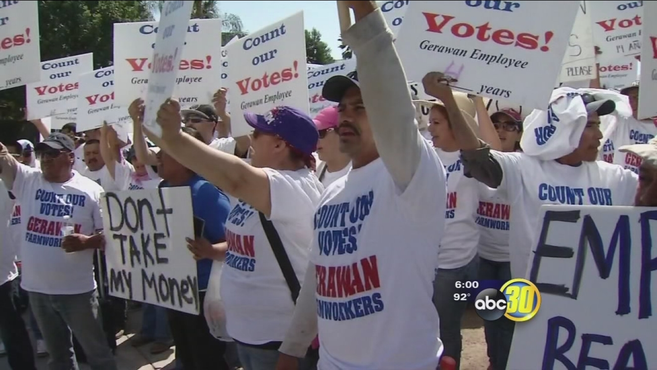 Gerawan farmworkers protest over union vote