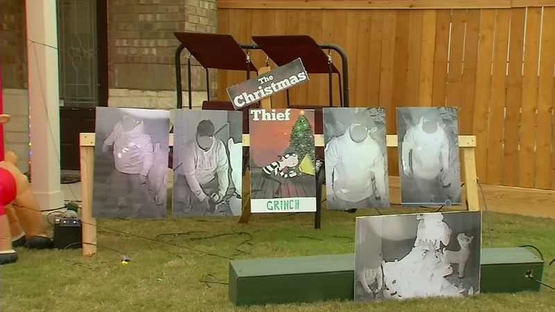 Texas man shames thief who stole holiday yard decorations