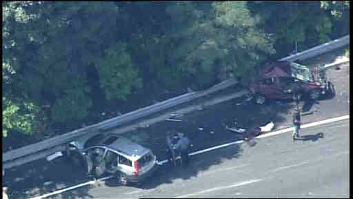Photos from deadly Route 280 truck accident in East Orange