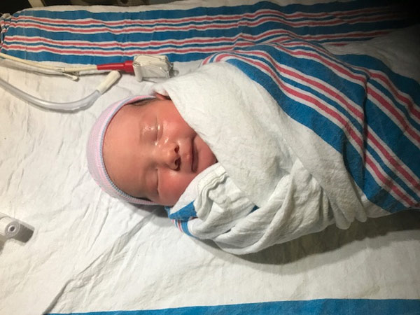 """<div class=""""meta image-caption""""><div class=""""origin-logo origin-image wpvi""""><span>WPVI</span></div><span class=""""caption-text"""">The Action News family has grown again as reporter Katherine Scott welcomed a baby boy into the world.</span></div>"""