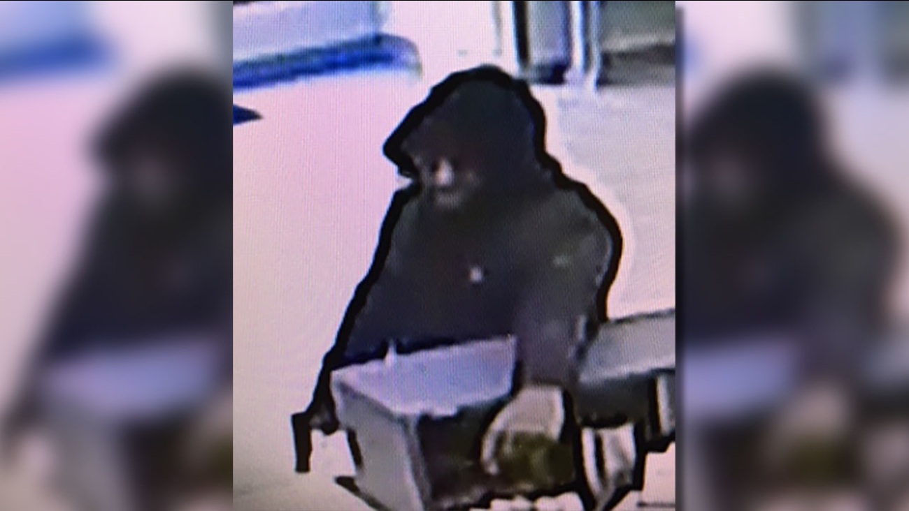 Surveillance image of the Louisburg bank robbery suspect.