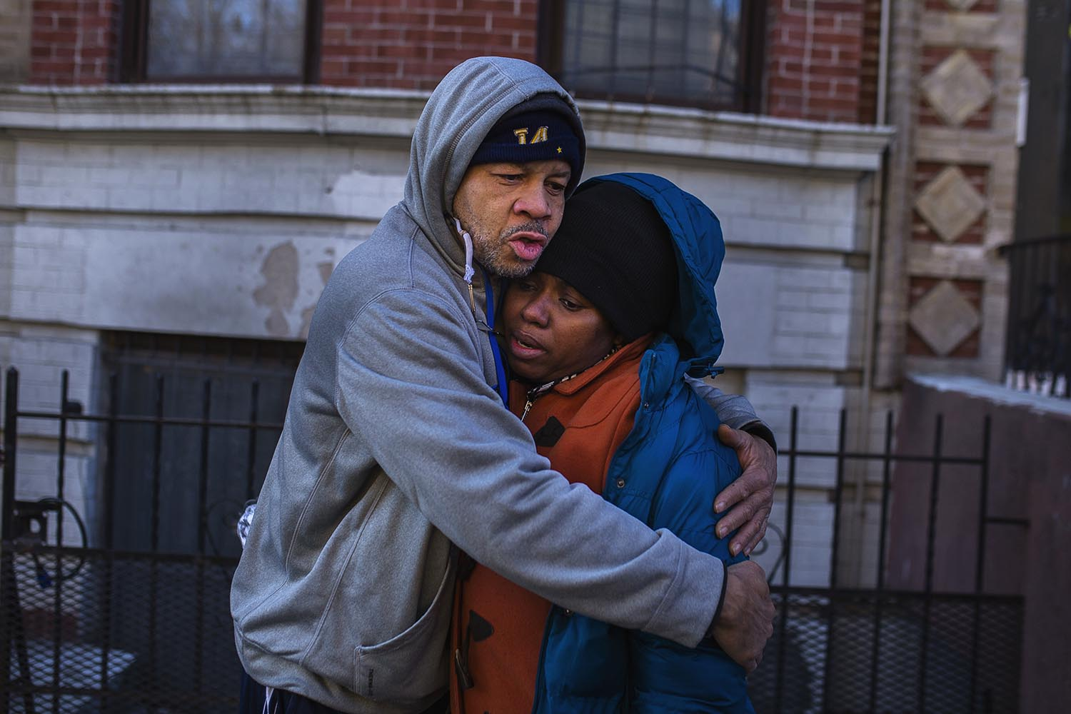 <div class='meta'><div class='origin-logo' data-origin='AP'></div><span class='caption-text' data-credit='AP Photo/Andres Kudacki'>Emelia Ascheampong, right, a resident of the building where more than 10 people died in a fire on Thursday, is hugged by a friend on Friday, Dec. 29, 2017, in the Bronx.</span></div>