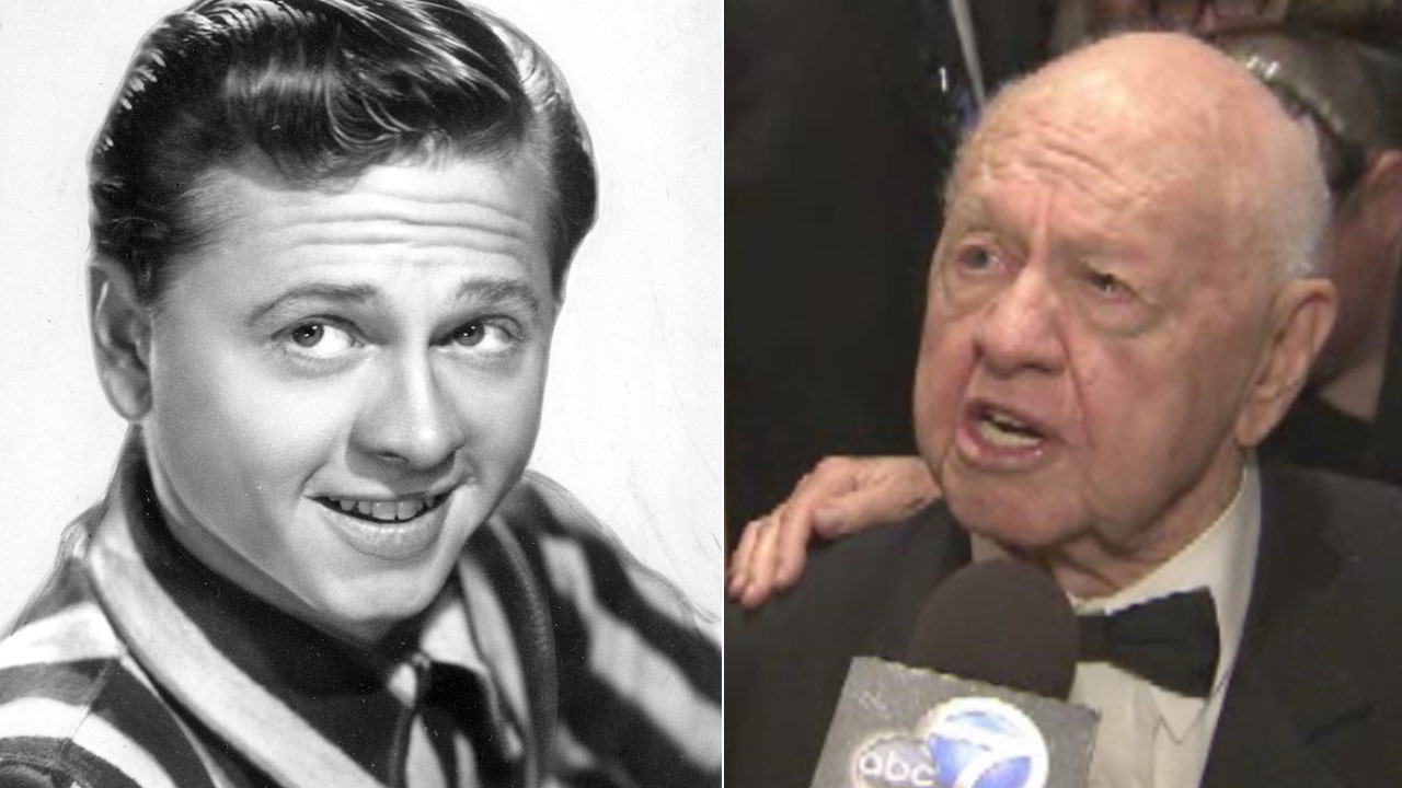 Actor Mickey Rooney is seen in these undated file photos.