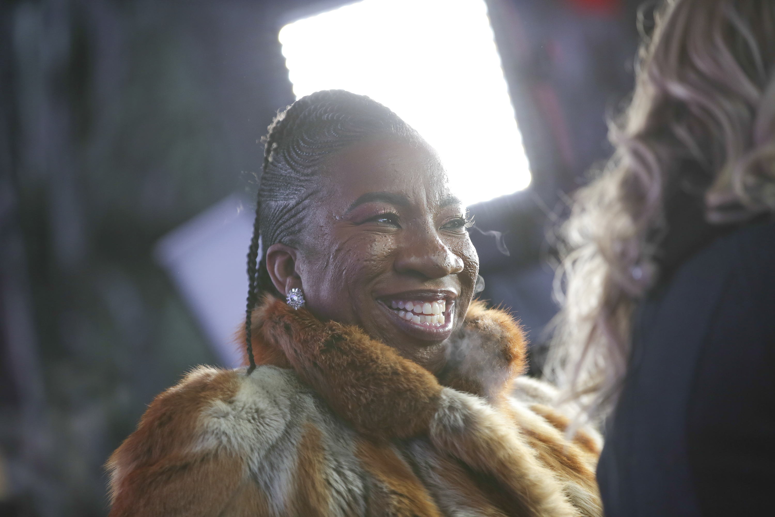<div class='meta'><div class='origin-logo' data-origin='AP'></div><span class='caption-text' data-credit='Brent N. Clarke/Invision/AP'>Activist Tarana Burke speaks on stage at the New Year's Eve celebration in Times Square on Sunday, Dec. 31, 2017, in New York. (Photo by Brent N. Clarke/Invision/AP)</span></div>