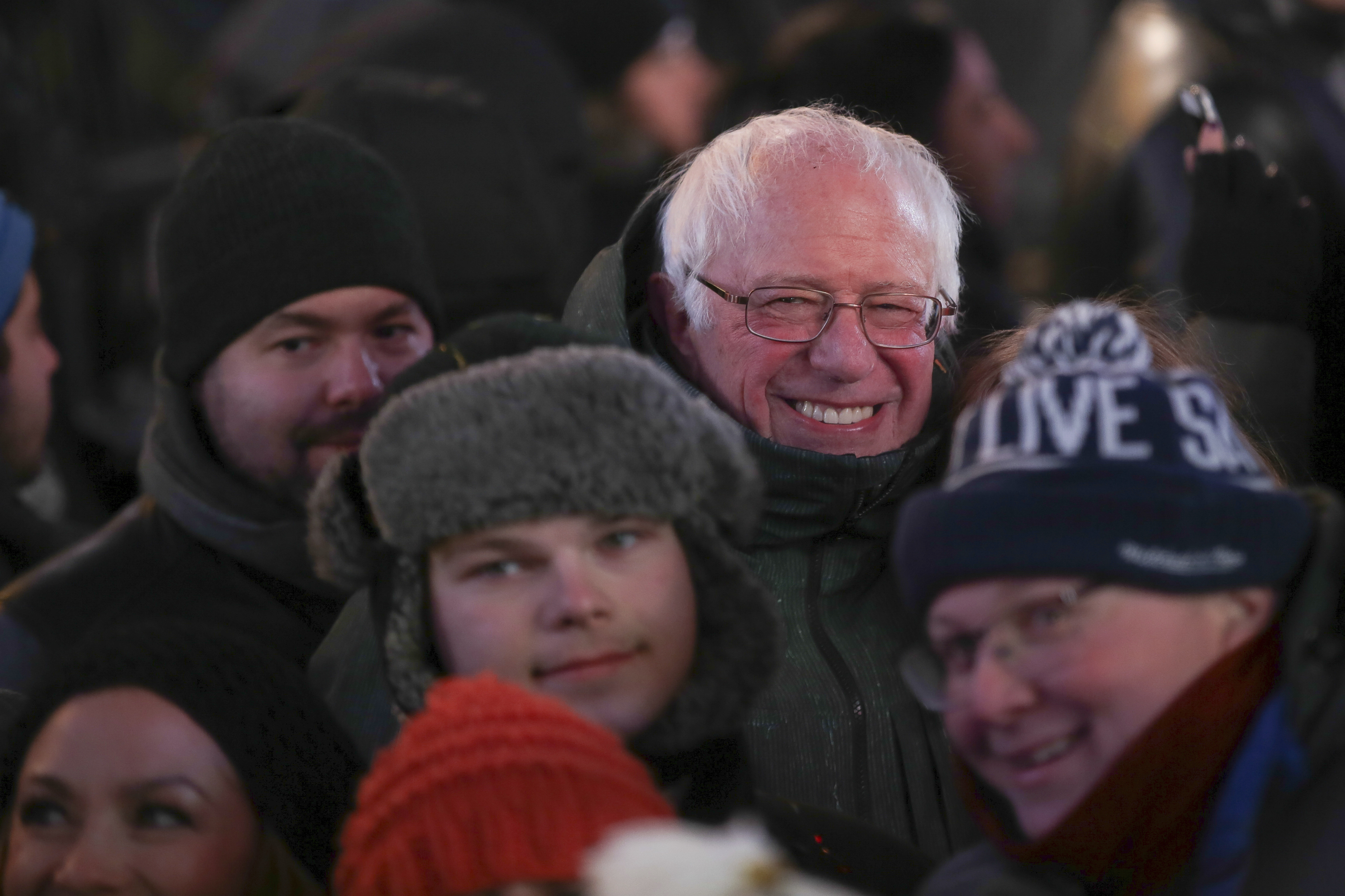 "<div class=""meta image-caption""><div class=""origin-logo origin-image ap""><span>AP</span></div><span class=""caption-text"">Senator Bernie Sanders attends the New Year's Eve celebration in Times Square on Sunday, Dec. 31, 2017, in New York. (Photo by Brent N. Clarke/Invision/AP) (Brent N. Clarke/Invision/AP)</span></div>"