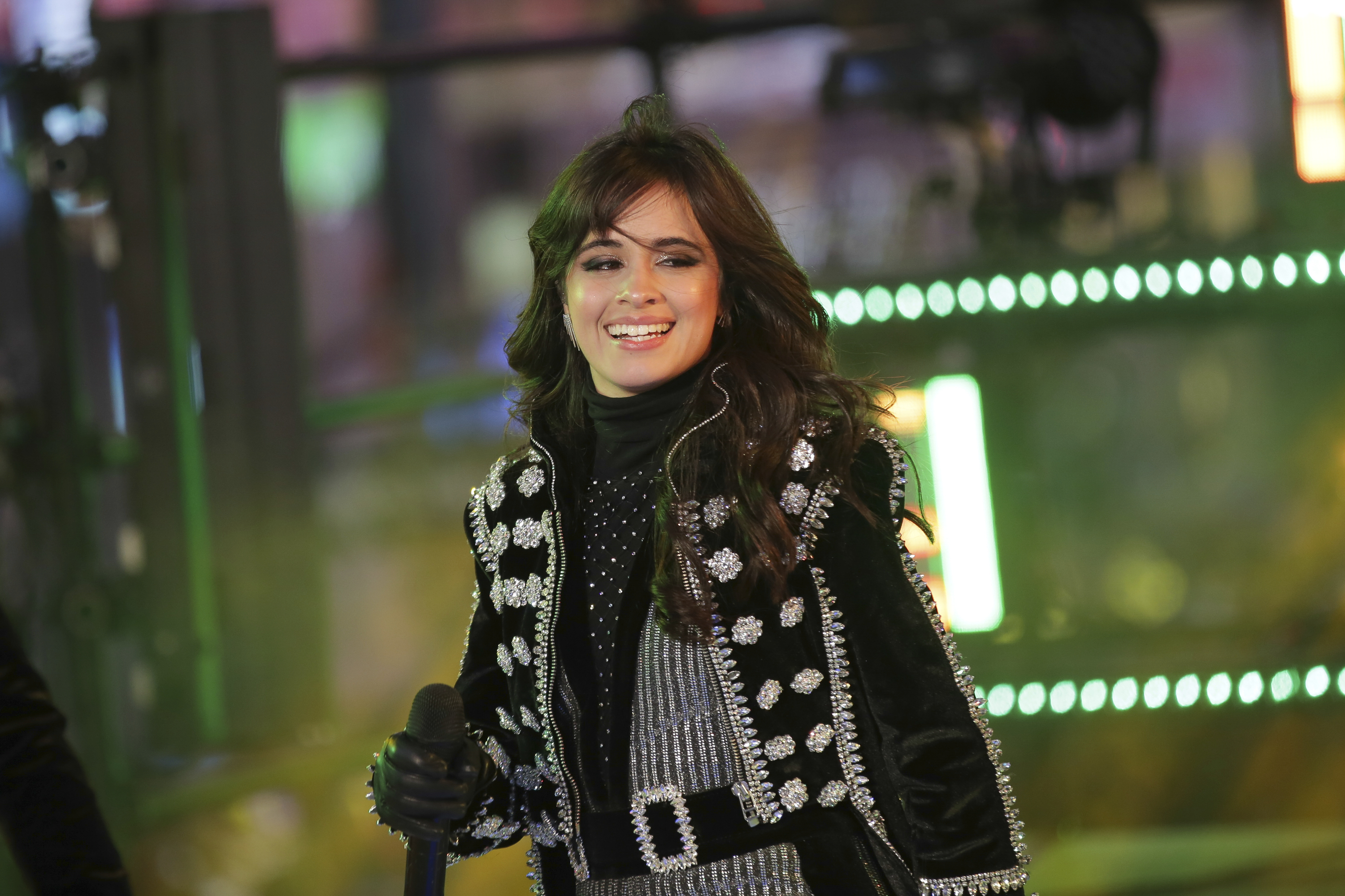 "<div class=""meta image-caption""><div class=""origin-logo origin-image ap""><span>AP</span></div><span class=""caption-text"">Camila Cabello performs on stage at the New Year's Eve celebration in Times Square on Sunday, Dec. 31, 2017, in New York. (Photo by Brent N. Clarke/Invision/AP) (Brent N. Clarke/Invision/AP)</span></div>"