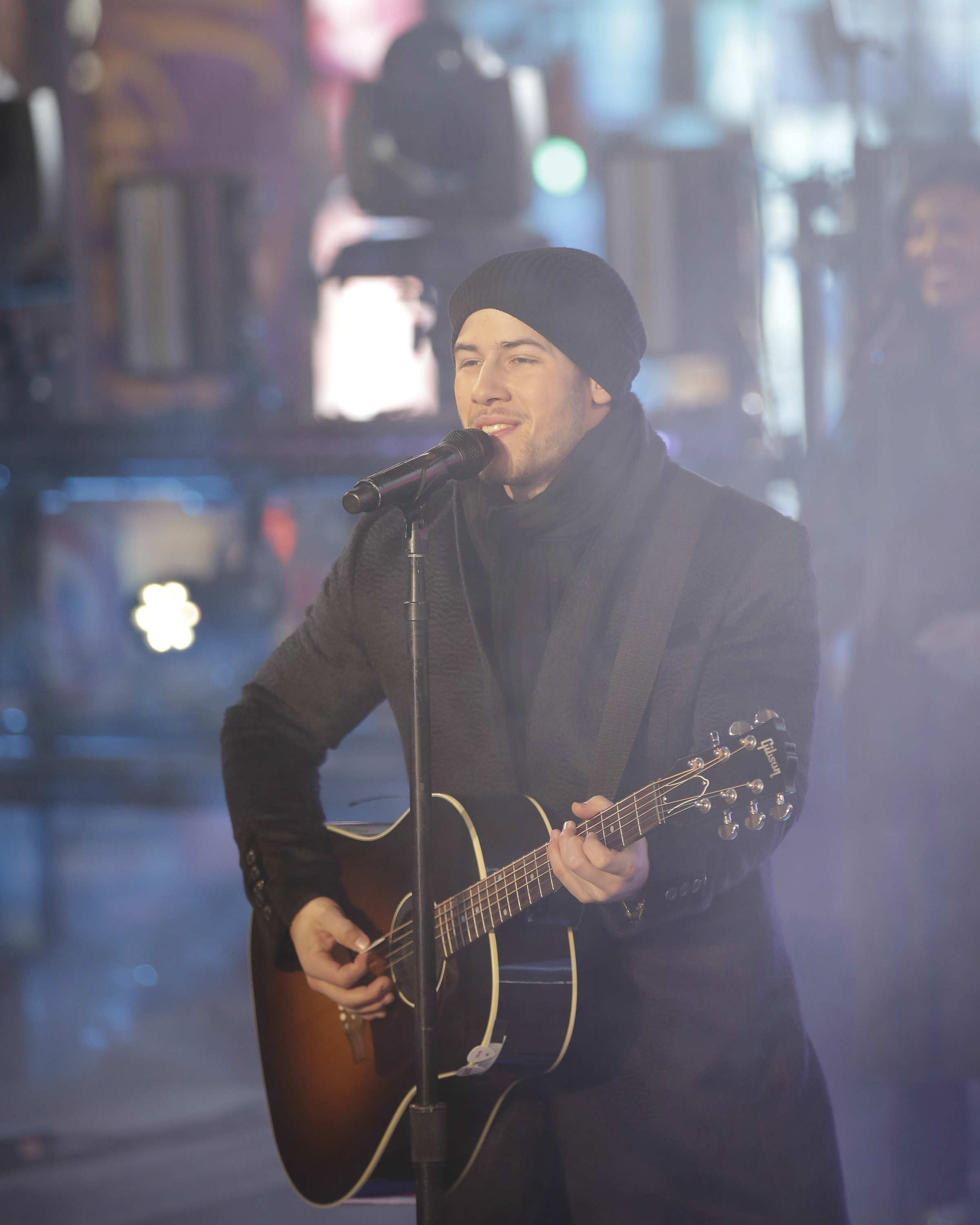<div class='meta'><div class='origin-logo' data-origin='AP'></div><span class='caption-text' data-credit='Brent N. Clarke/Invision/AP'>Nick Jonas performs on stage at the New Year's Eve celebration in Times Square on Sunday, Dec. 31, 2017, in New York. (Photo by Brent N. Clarke/Invision/AP)</span></div>