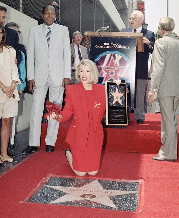 "<div class=""meta image-caption""><div class=""origin-logo origin-image ""><span></span></div><span class=""caption-text"">Joan posing to her star on the Walk of Fame in Hollywood in July 1989. (AP)</span></div>"