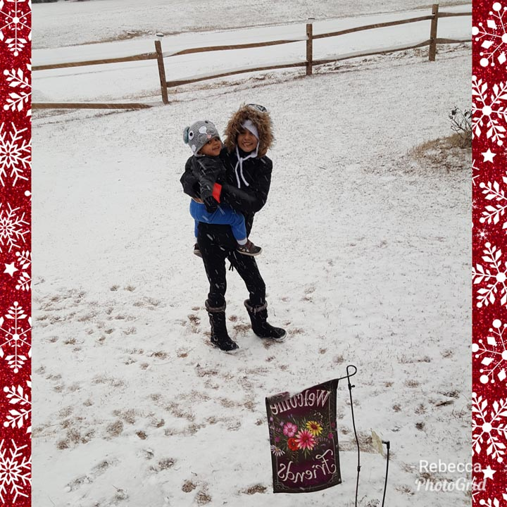 "<div class=""meta image-caption""><div class=""origin-logo origin-image none""><span>none</span></div><span class=""caption-text"">Graycie and Graycen playing in the snow in Aberdeen! (Rebecca Eldridge - ABC11 Eyewitness)</span></div>"
