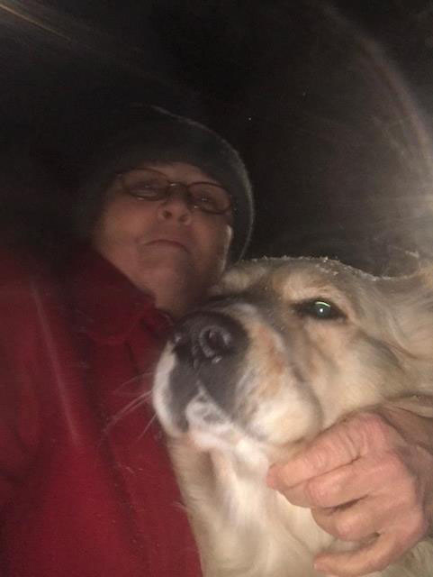 "<div class=""meta image-caption""><div class=""origin-logo origin-image none""><span>none</span></div><span class=""caption-text"">Swiper and I in the first snow of 2018, Raeford, (Kathy Carnal - ABC11 Eyewitness)</span></div>"
