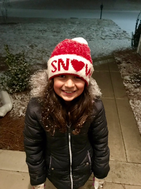 "<div class=""meta image-caption""><div class=""origin-logo origin-image none""><span>none</span></div><span class=""caption-text"">Daughter Analise seeing  the snow fall early evening in Fayetteville. (Lissett Lopez - ABC11 Eyewitness)</span></div>"