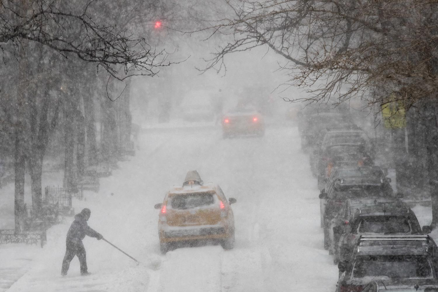 Monster Nor Easter Storm Dumps Snow On New York City Area