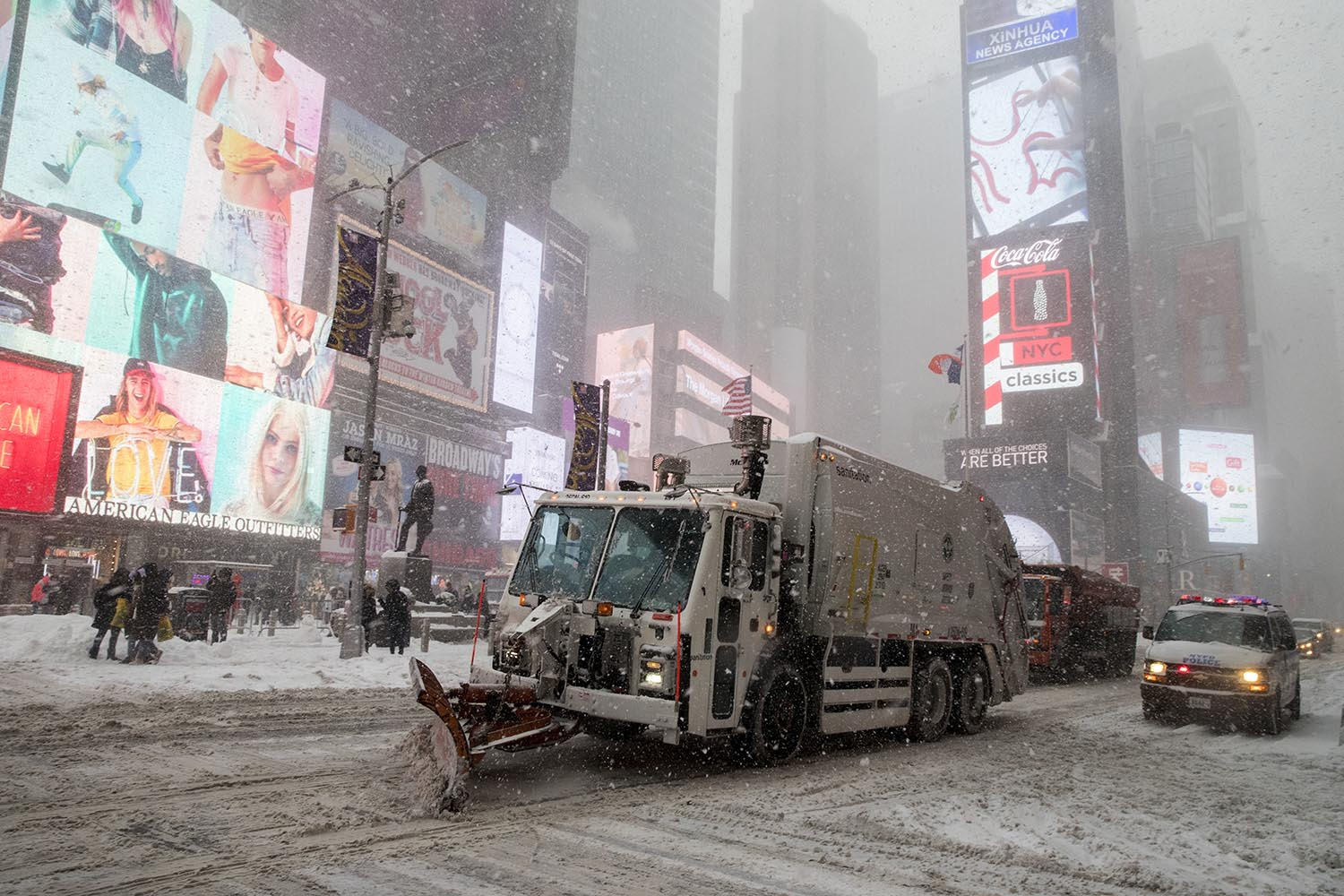 "<div class=""meta image-caption""><div class=""origin-logo origin-image ap""><span>AP</span></div><span class=""caption-text"">A snow plow clears snow off Broadway in New York's Times Square, Thursday, Jan. 4, 2018. (AP Photo/Mary Altaffer)</span></div>"