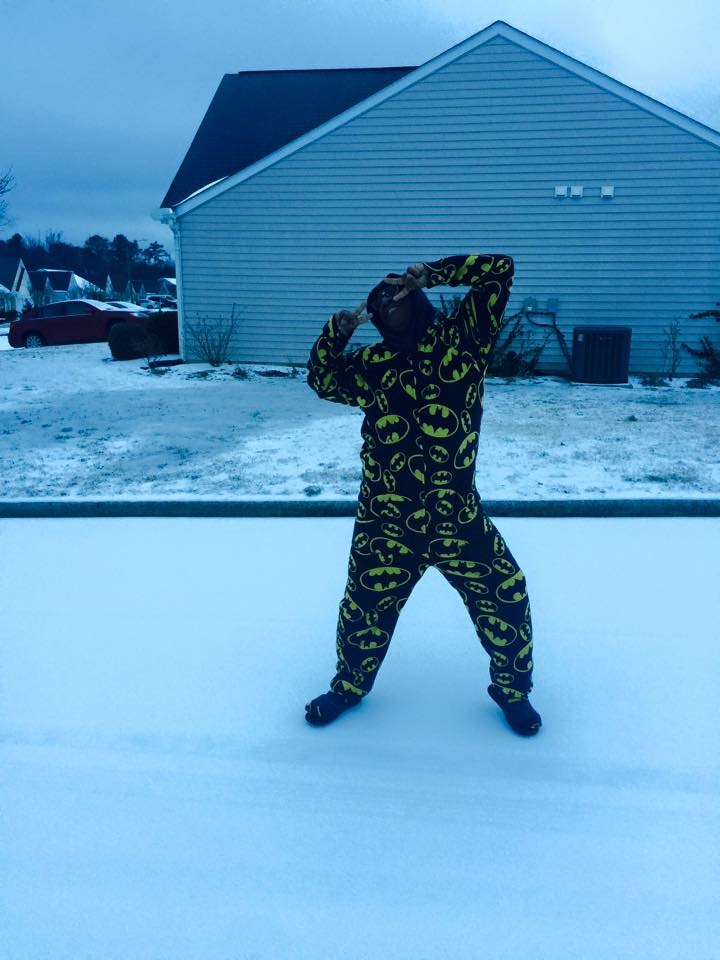 "<div class=""meta image-caption""><div class=""origin-logo origin-image none""><span>none</span></div><span class=""caption-text"">The Batman of Apex, in his footsie PJ costume, making sure that Holland's Crossing is a safe place to be during the current winter apocalypse! (Greg Thompson - ABC11 Eyewitness)</span></div>"