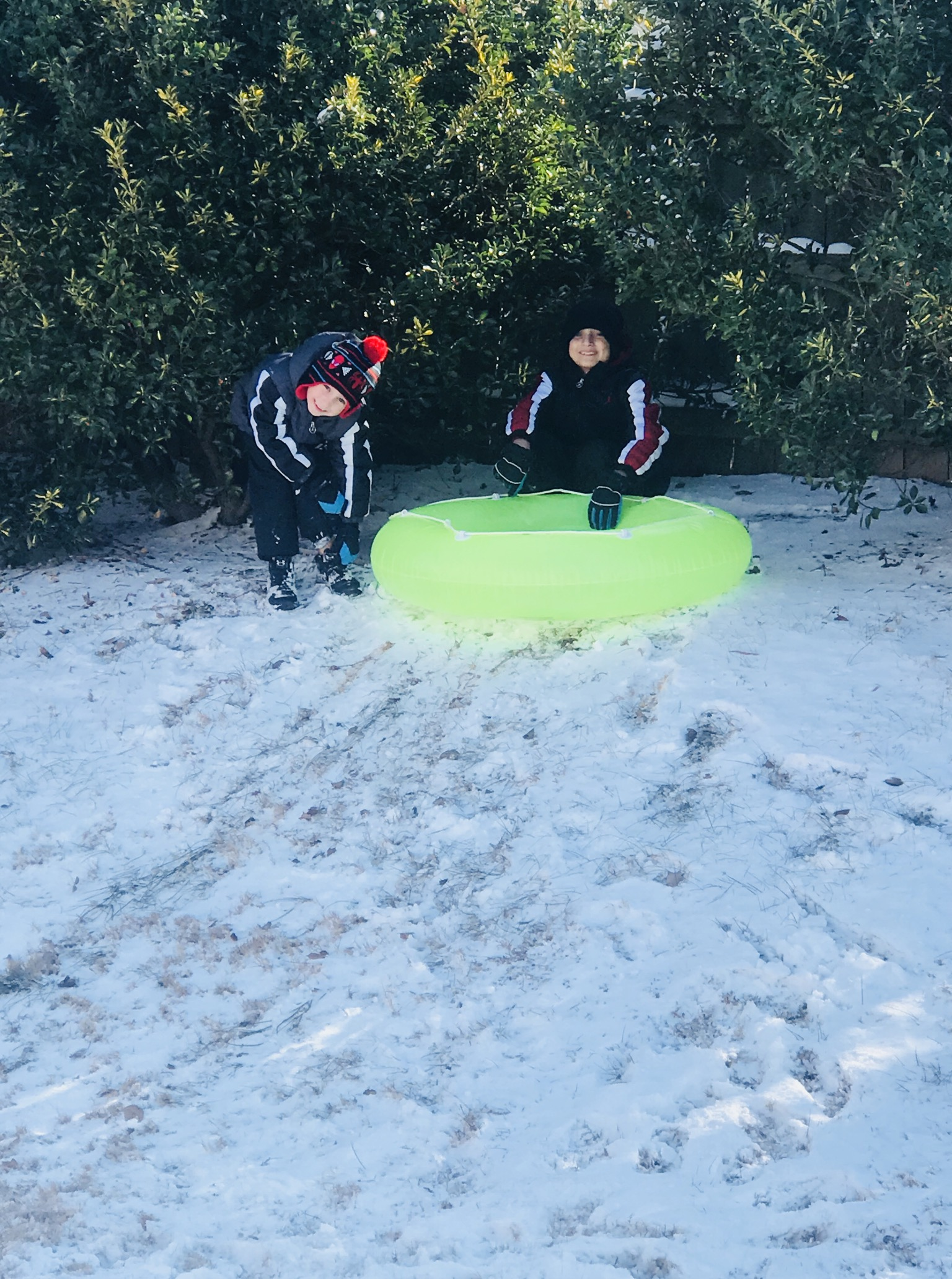 "<div class=""meta image-caption""><div class=""origin-logo origin-image none""><span>none</span></div><span class=""caption-text"">Connor and Caden brothers from Clayton enjoying a snow day! (Heidi Camposano - ABC11 Eyewitness)</span></div>"