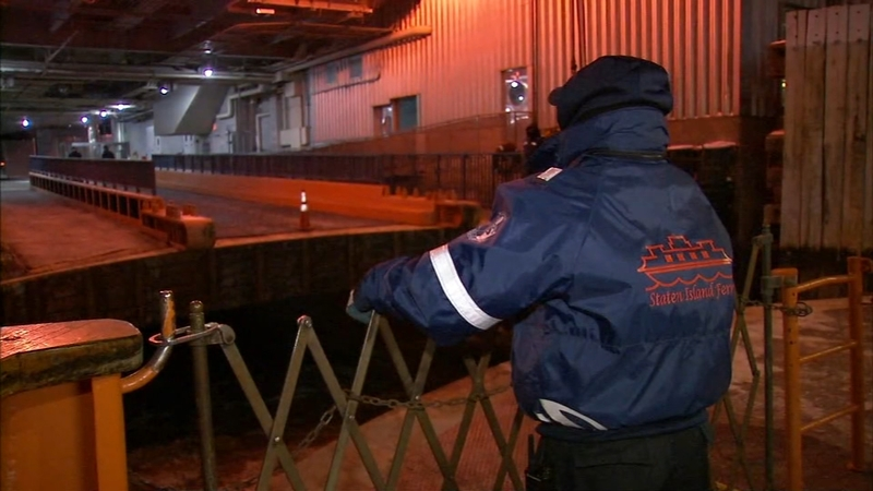 New York's coldest job: The deck of the Staten Island Ferry | abc7ny com