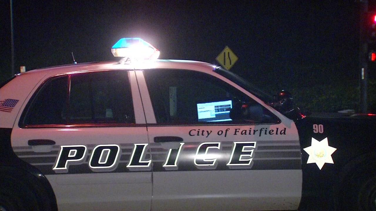 A Fairfield police vehicle is seen in Fairfield, Calif. on Saturday, Jan. 6, 2018.