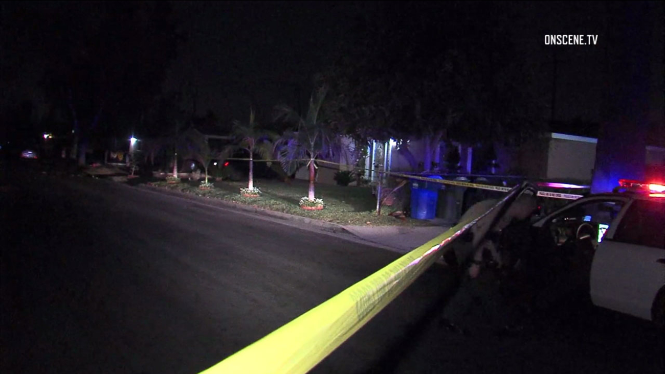 Authorities investigated the scene of a shooting that left a teenage girl in grave condition in Covina on Saturday, Jan. 6, 2018.