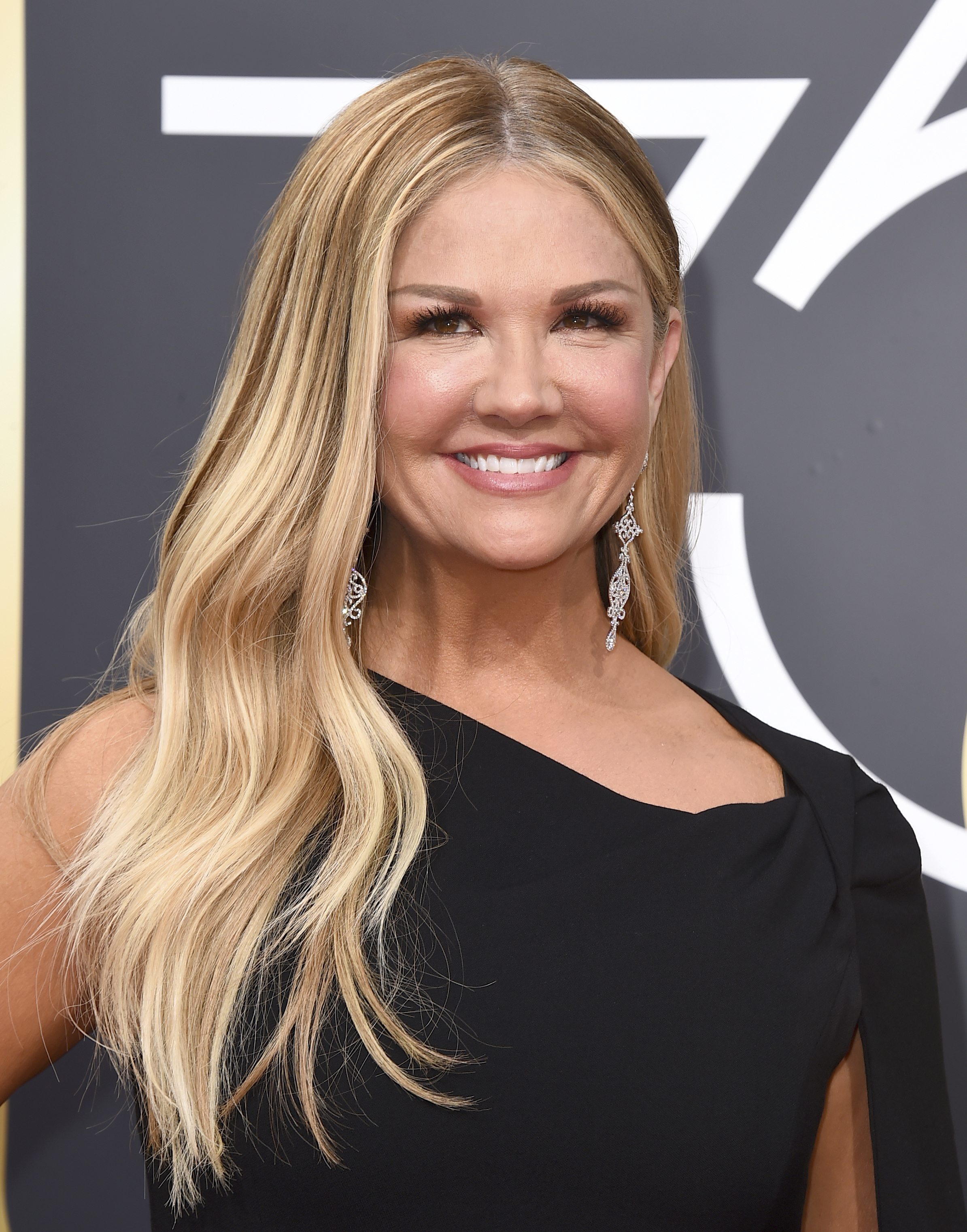 <div class='meta'><div class='origin-logo' data-origin='AP'></div><span class='caption-text' data-credit='Jordan Strauss/Invision/AP'>Nancy O'Dell arrives at the 75th annual Golden Globe Awards at the Beverly Hilton Hotel on Sunday, Jan. 7, 2018, in Beverly Hills, Calif.</span></div>