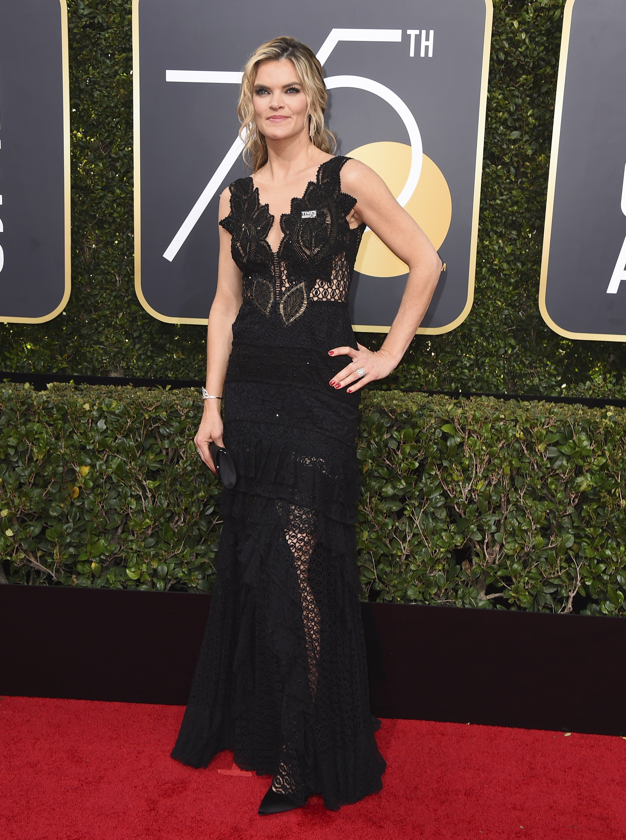 <div class='meta'><div class='origin-logo' data-origin='AP'></div><span class='caption-text' data-credit='Jordan Strauss/Invision/AP'>Missi Pyle arrives at the 75th annual Golden Globe Awards at the Beverly Hilton Hotel on Sunday, Jan. 7, 2018, in Beverly Hills, Calif.</span></div>