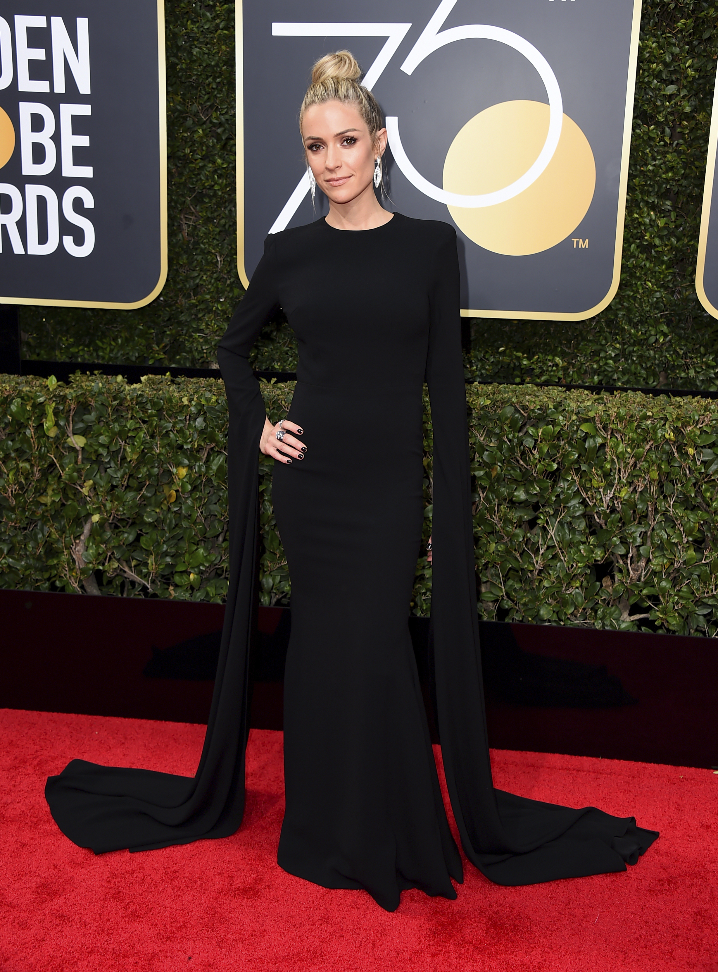 <div class='meta'><div class='origin-logo' data-origin='AP'></div><span class='caption-text' data-credit='Jordan Strauss/Invision/AP'>Kristin Cavallari arrives at the 75th annual Golden Globe Awards at the Beverly Hilton Hotel on Sunday, Jan. 7, 2018, in Beverly Hills, Calif.</span></div>
