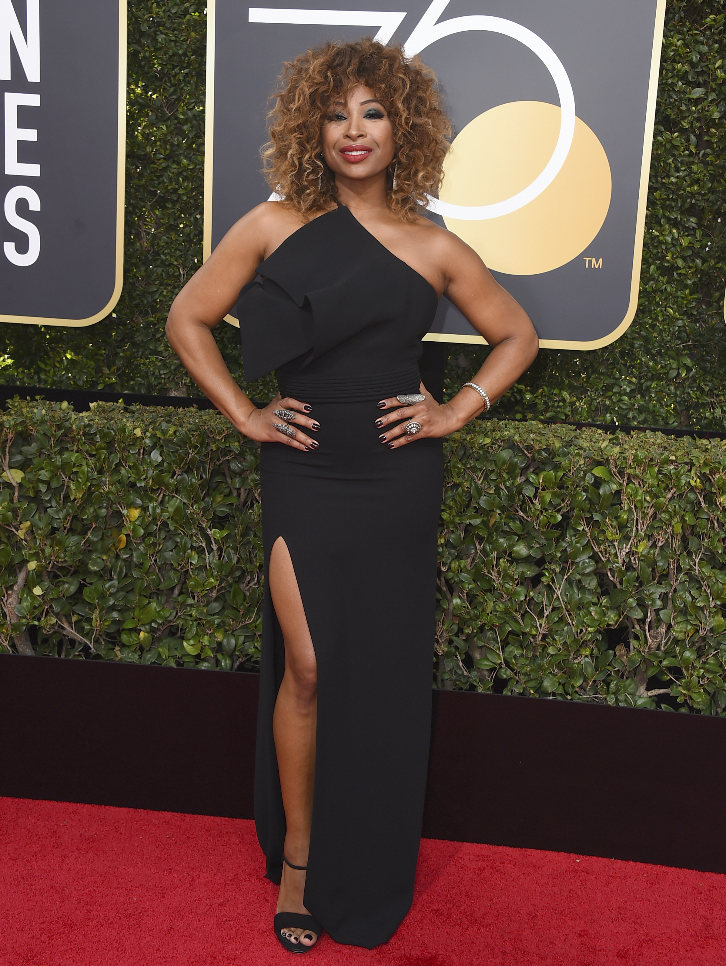 <div class='meta'><div class='origin-logo' data-origin='AP'></div><span class='caption-text' data-credit='Jordan Strauss/Invision/AP'>Tanika Ray arrives at the 75th annual Golden Globe Awards at the Beverly Hilton Hotel on Sunday, Jan. 7, 2018, in Beverly Hills, Calif.</span></div>