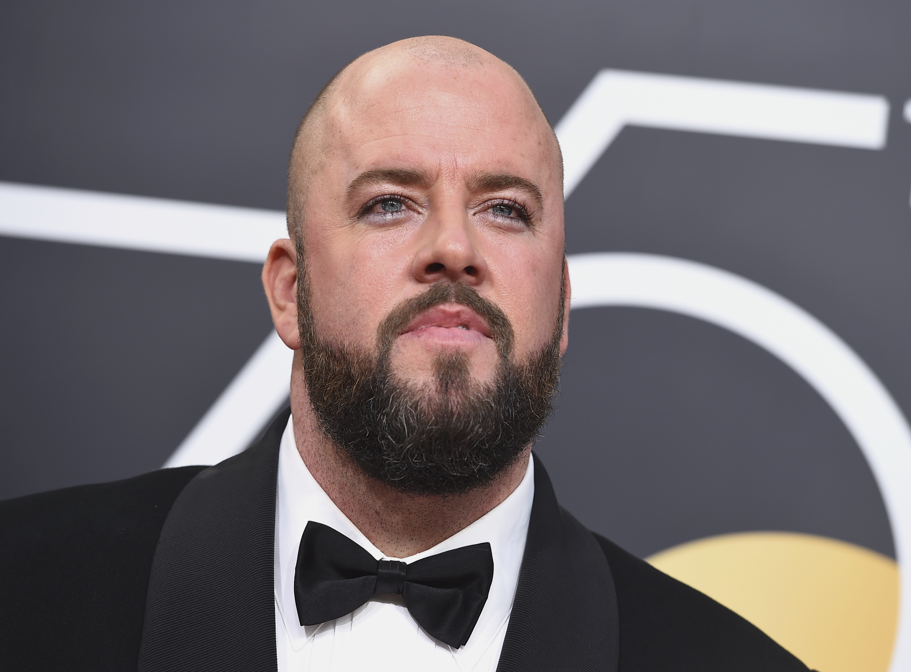 <div class='meta'><div class='origin-logo' data-origin='AP'></div><span class='caption-text' data-credit='Jordan Strauss/Invision/AP'>Chris Sullivan arrives at the 75th annual Golden Globe Awards at the Beverly Hilton Hotel on Sunday, Jan. 7, 2018, in Beverly Hills, Calif.</span></div>