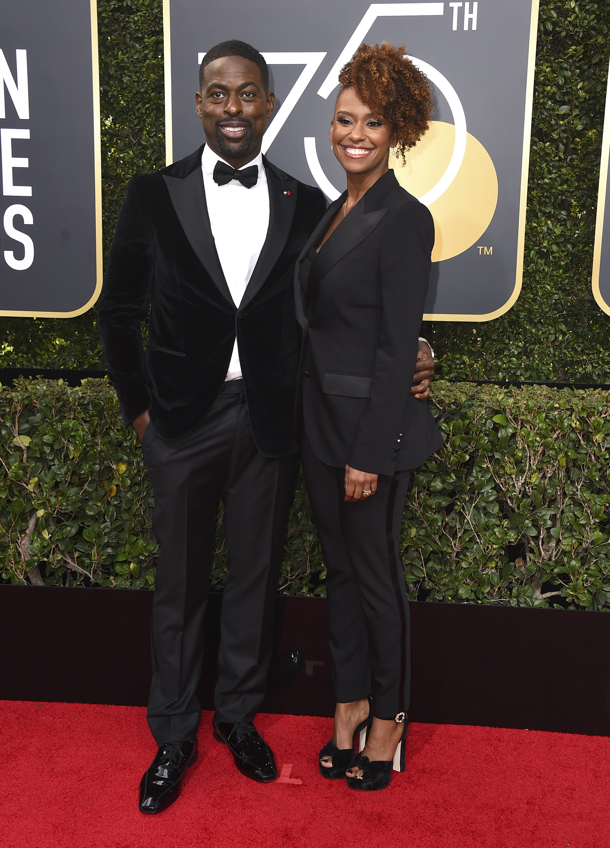 <div class='meta'><div class='origin-logo' data-origin='AP'></div><span class='caption-text' data-credit='Jordan Strauss/Invision/AP'>Sterling K. Brown, left, and Ryan Bathe arrive at the 75th annual Golden Globe Awards at the Beverly Hilton Hotel on Sunday, Jan. 7, 2018, in Beverly Hills, Calif.</span></div>