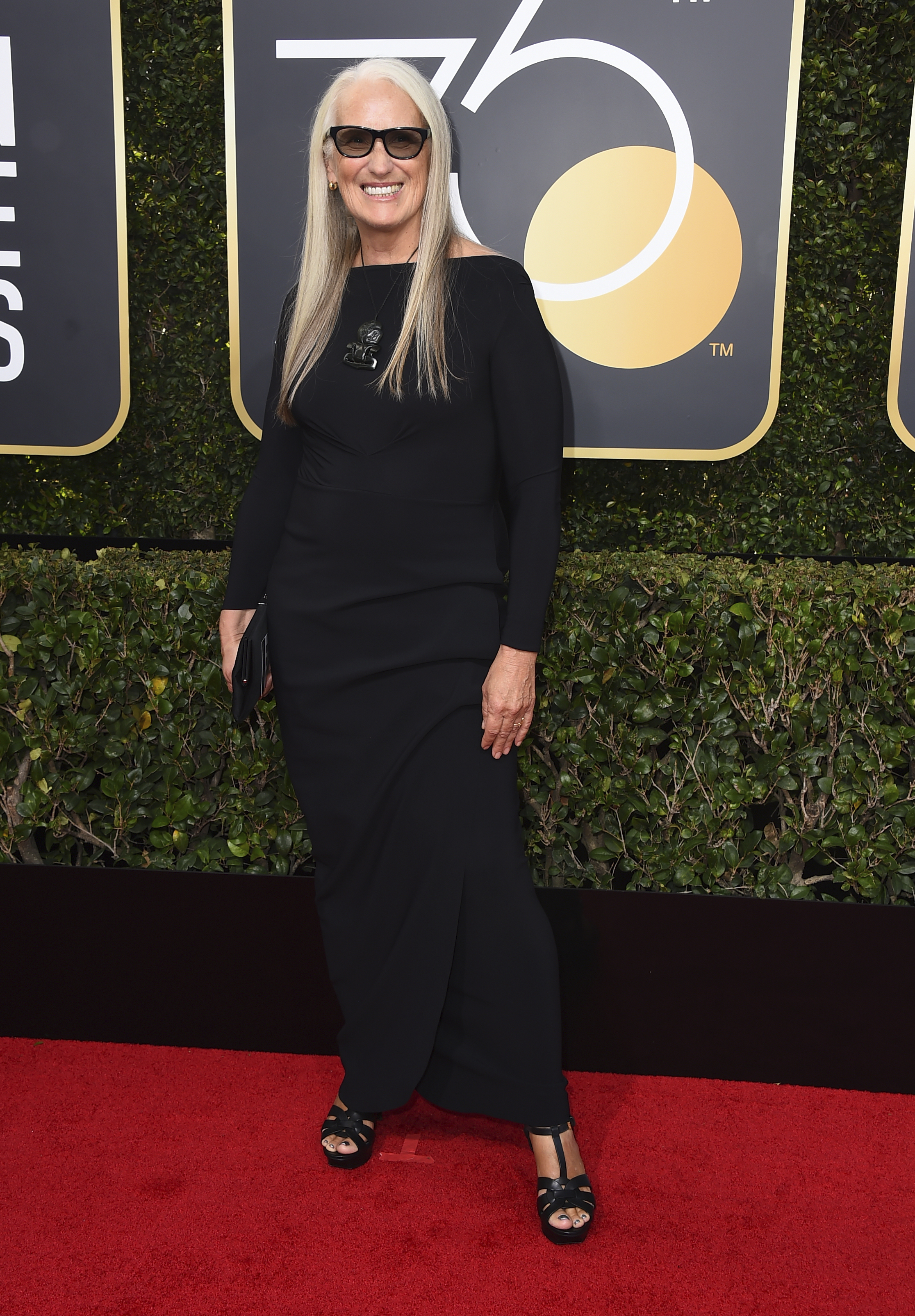 <div class='meta'><div class='origin-logo' data-origin='AP'></div><span class='caption-text' data-credit='Jordan Strauss/Invision/AP'>Jane Campion arrives at the 75th annual Golden Globe Awards at the Beverly Hilton Hotel on Sunday, Jan. 7, 2018, in Beverly Hills, Calif.</span></div>