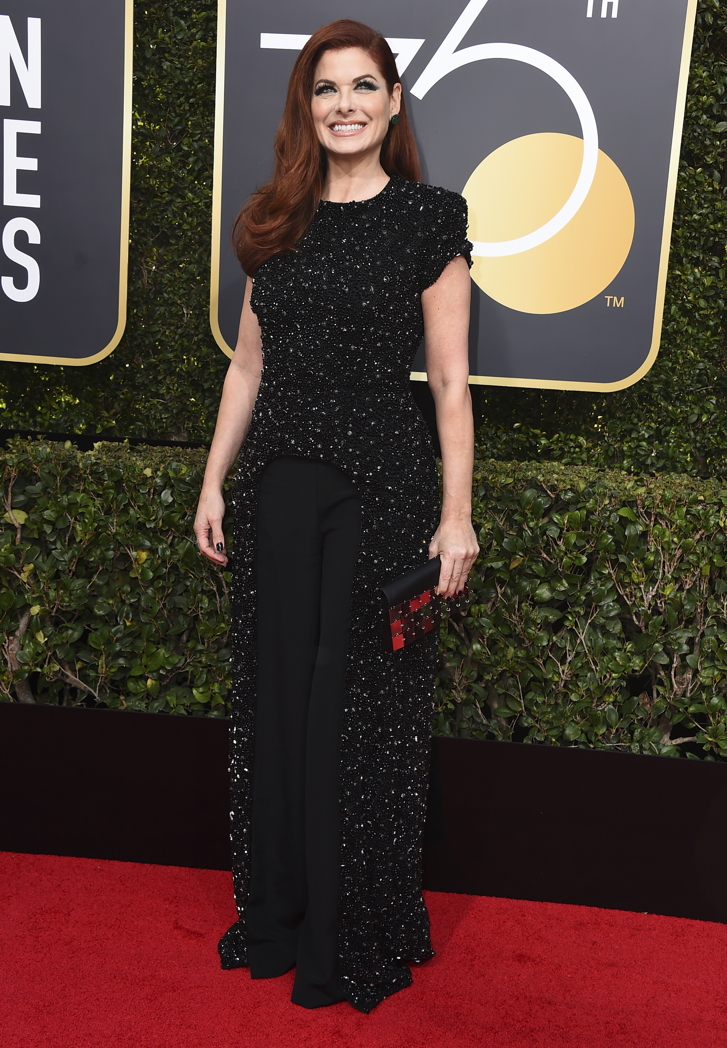 <div class='meta'><div class='origin-logo' data-origin='AP'></div><span class='caption-text' data-credit='Jordan Strauss/Invision/AP'>Debra Messing arrives at the 75th annual Golden Globe Awards at the Beverly Hilton Hotel on Sunday, Jan. 7, 2018, in Beverly Hills, Calif.</span></div>