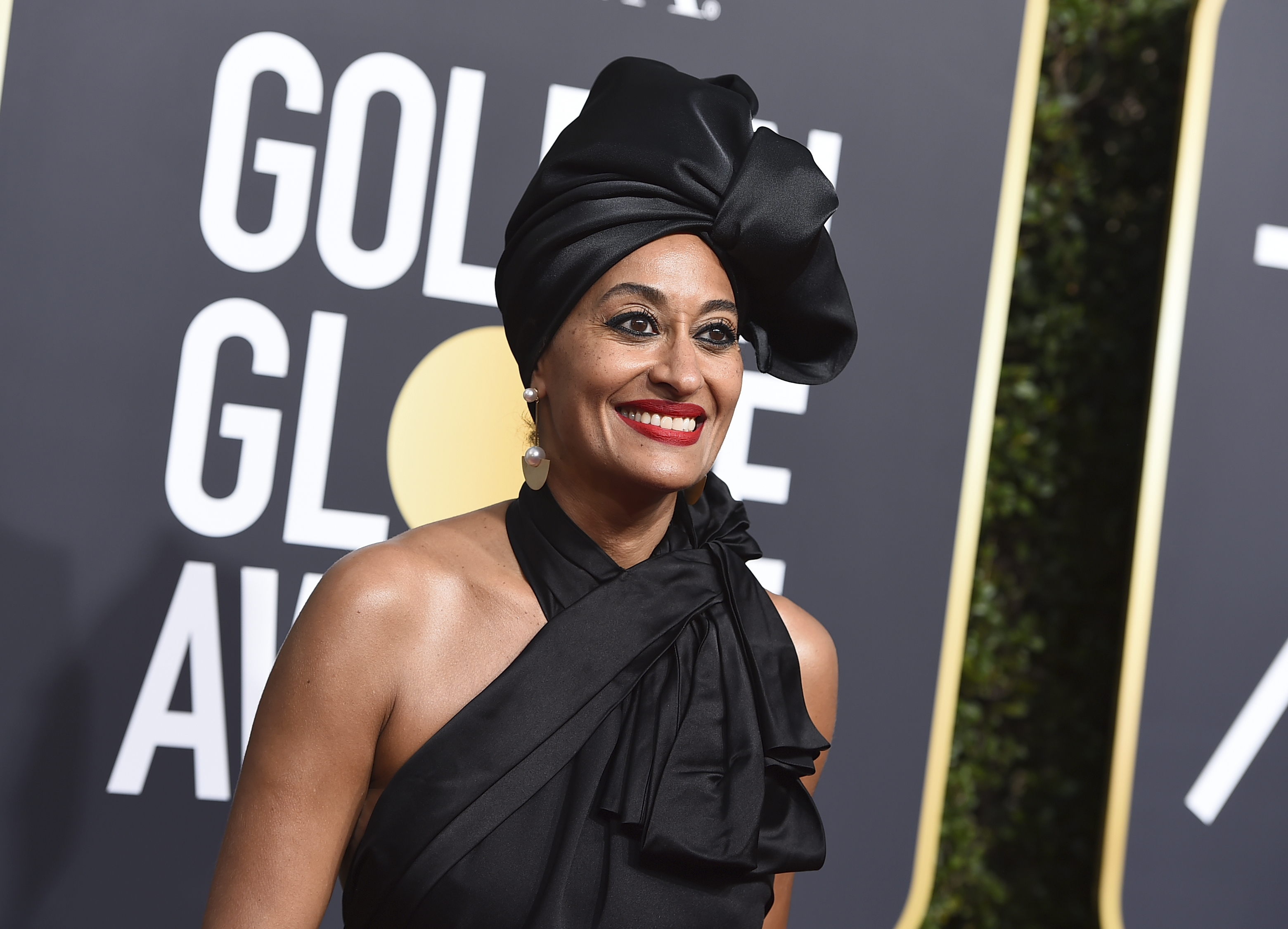 <div class='meta'><div class='origin-logo' data-origin='AP'></div><span class='caption-text' data-credit='Jordan Strauss/Invision/AP'>Tracee Ellis Ross arrives at the 75th annual Golden Globe Awards at the Beverly Hilton Hotel on Sunday, Jan. 7, 2018, in Beverly Hills, Calif.</span></div>