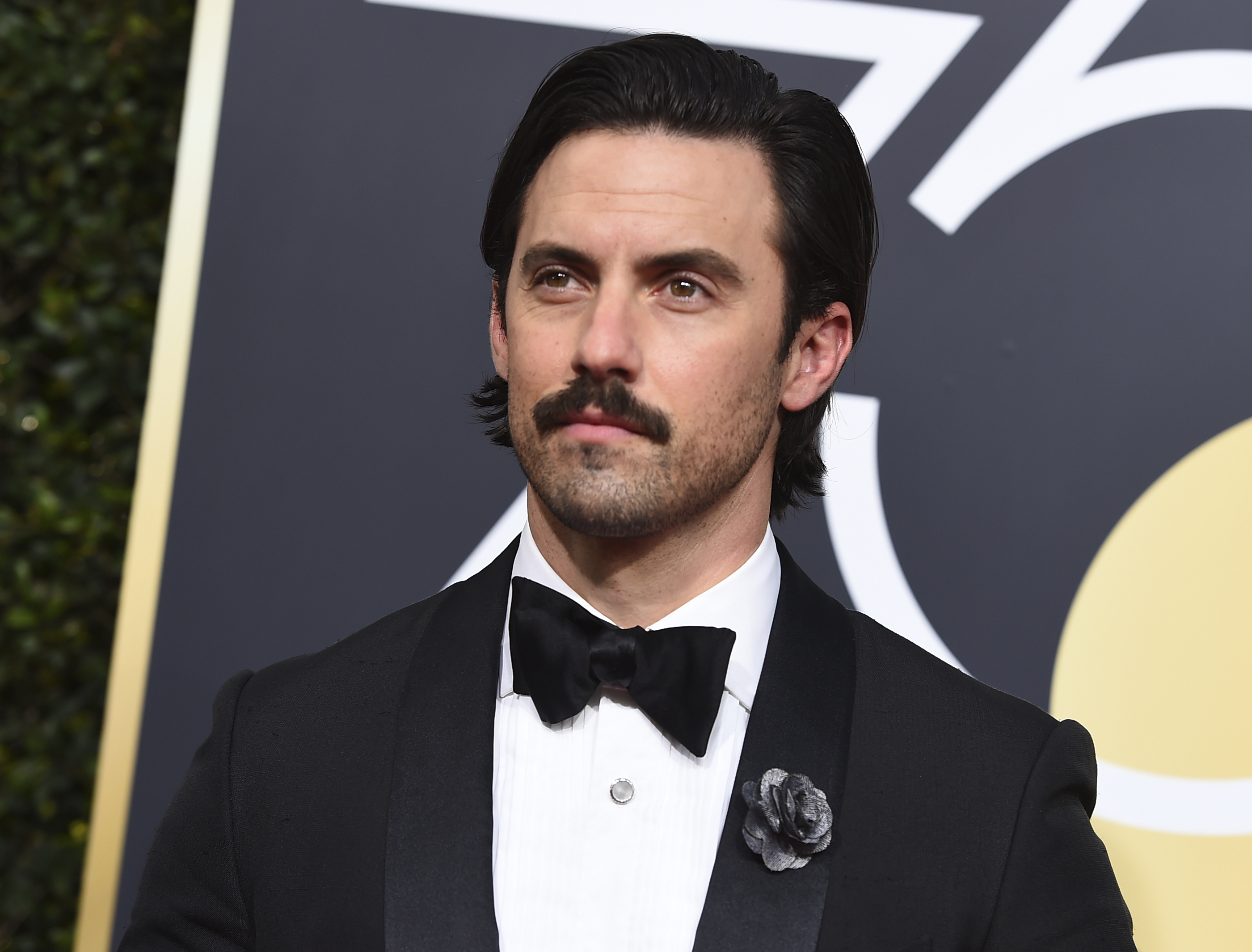 <div class='meta'><div class='origin-logo' data-origin='AP'></div><span class='caption-text' data-credit='Jordan Strauss/Invision/AP'>Milo Ventimiglia arrives at the 75th annual Golden Globe Awards at the Beverly Hilton Hotel on Sunday, Jan. 7, 2018, in Beverly Hills, Calif.</span></div>