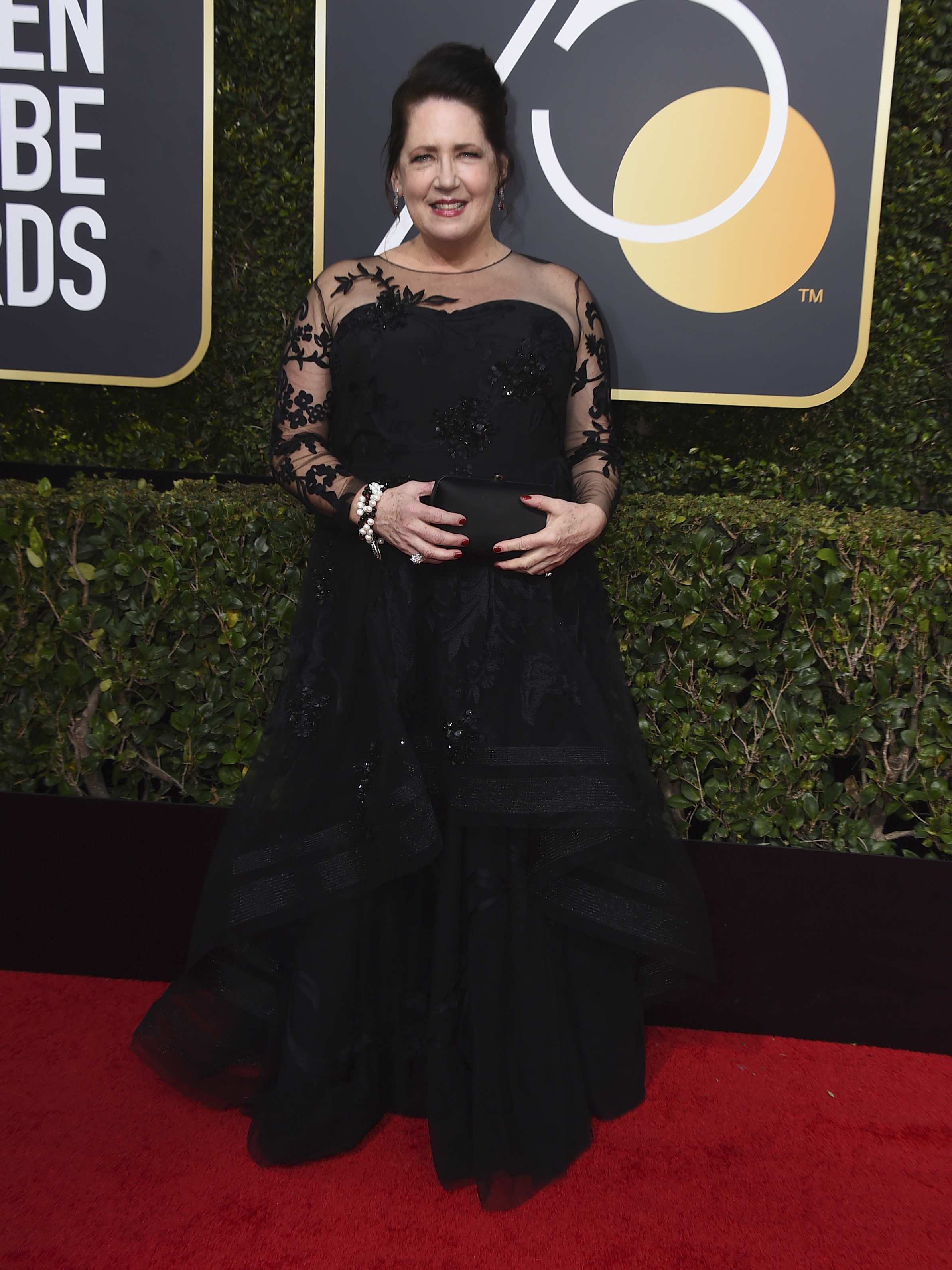 <div class='meta'><div class='origin-logo' data-origin='AP'></div><span class='caption-text' data-credit='Jordan Strauss/Invision/AP'>Ann Dowd arrives at the 75th annual Golden Globe Awards at the Beverly Hilton Hotel on Sunday, Jan. 7, 2018, in Beverly Hills, Calif.</span></div>