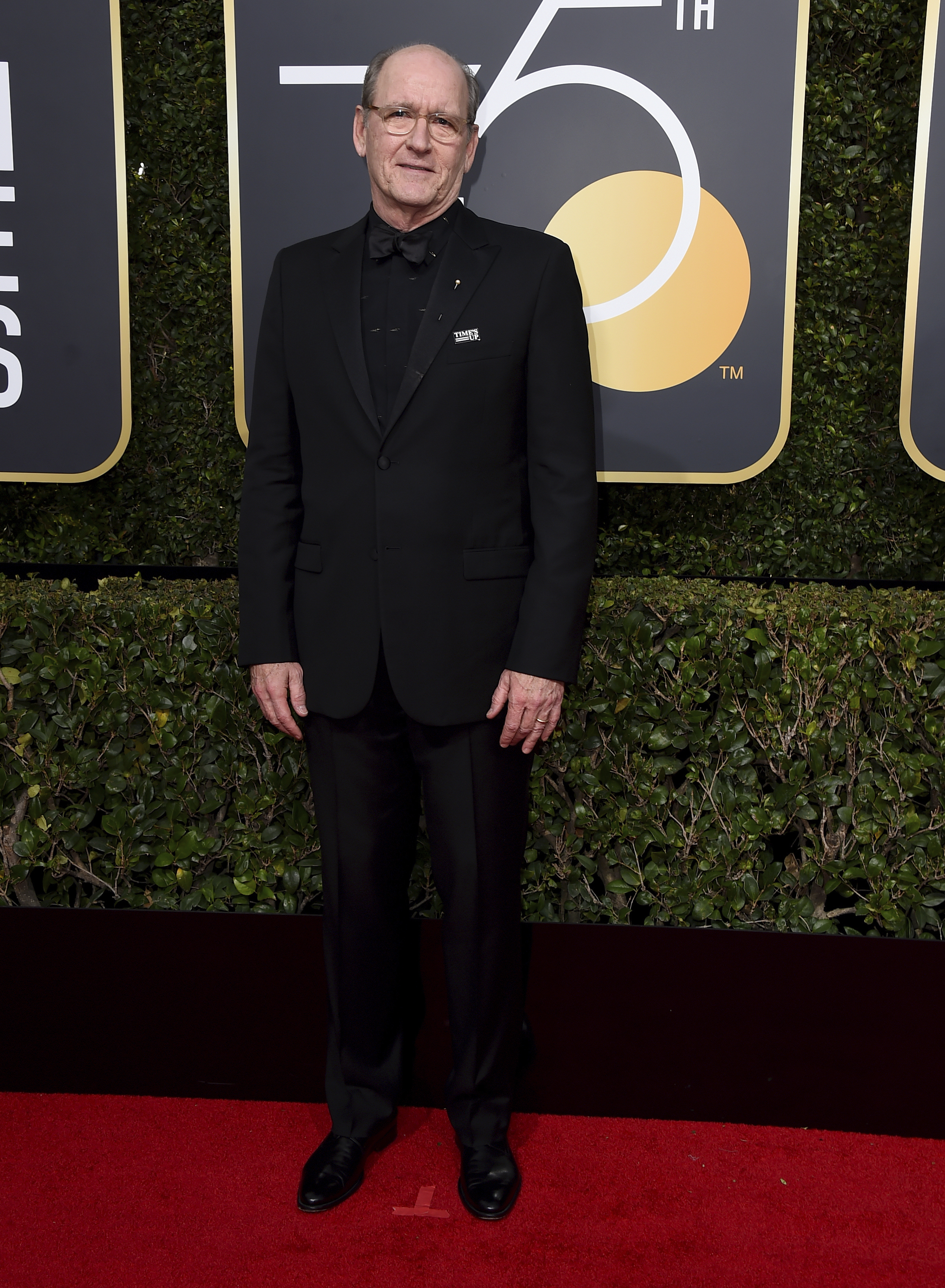 <div class='meta'><div class='origin-logo' data-origin='AP'></div><span class='caption-text' data-credit='Jordan Strauss/Invision/AP'>Richard Jenkins arrives at the 75th annual Golden Globe Awards at the Beverly Hilton Hotel on Sunday, Jan. 7, 2018, in Beverly Hills, Calif.</span></div>