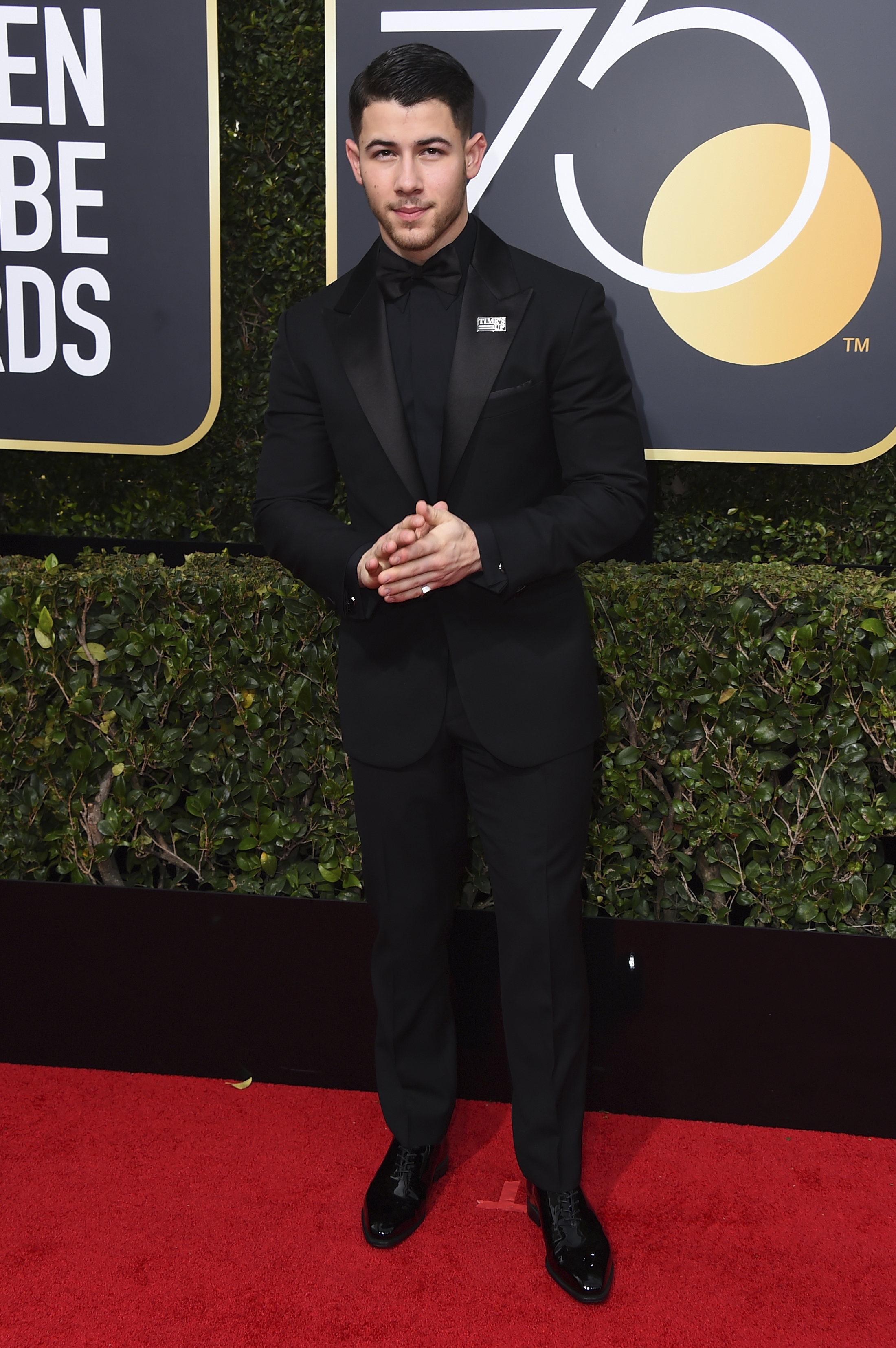 <div class='meta'><div class='origin-logo' data-origin='AP'></div><span class='caption-text' data-credit='Jordan Strauss/Invision/AP'>Nick Jonas arrives at the 75th annual Golden Globe Awards at the Beverly Hilton Hotel on Sunday, Jan. 7, 2018, in Beverly Hills, Calif. (Photo by Jordan Strauss/Invision/AP)</span></div>