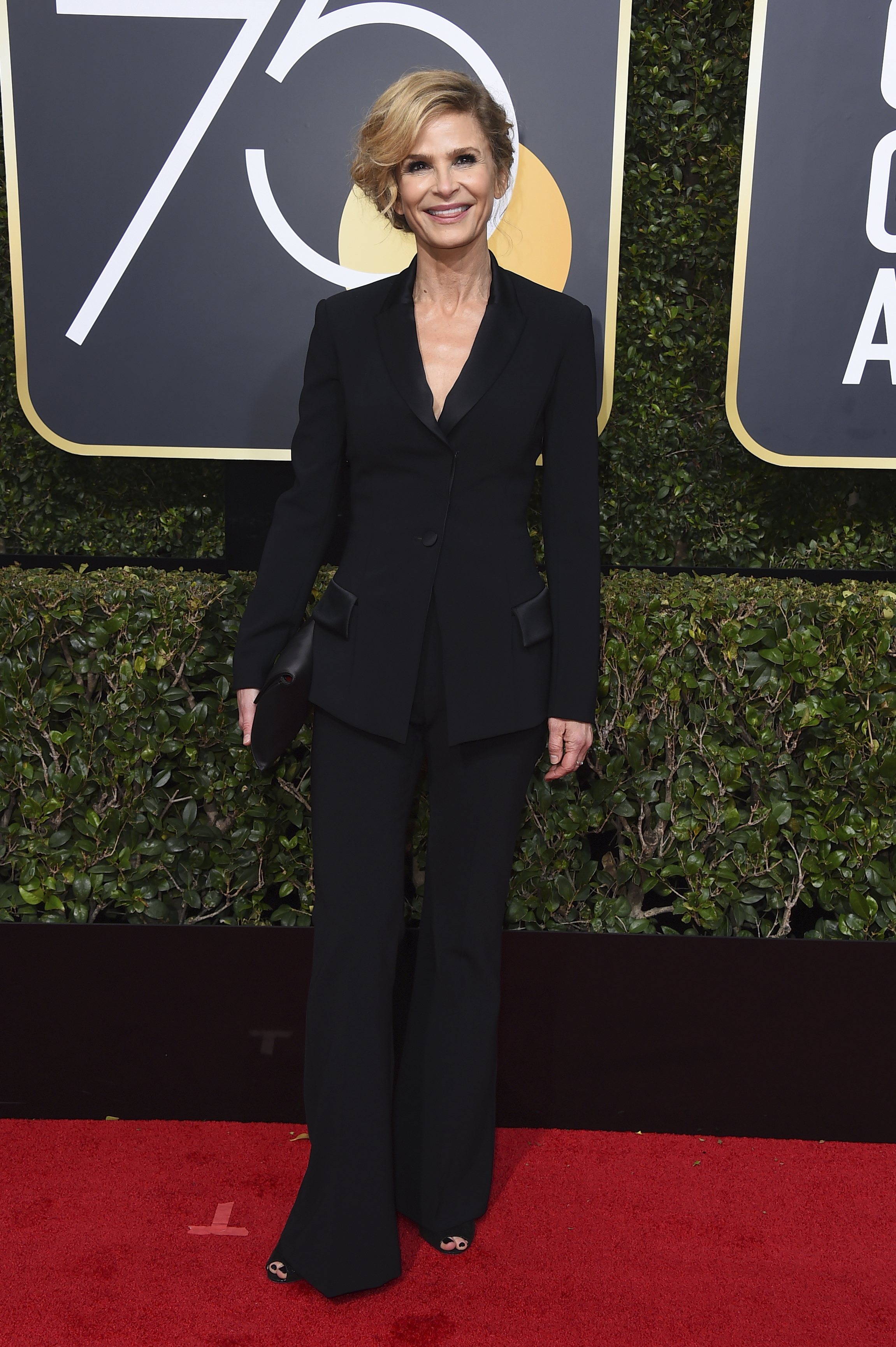 <div class='meta'><div class='origin-logo' data-origin='AP'></div><span class='caption-text' data-credit='Jordan Strauss/Invision/AP'>Kyra Sedgwick arrives at the 75th annual Golden Globe Awards at the Beverly Hilton Hotel on Sunday, Jan. 7, 2018, in Beverly Hills, Calif.</span></div>