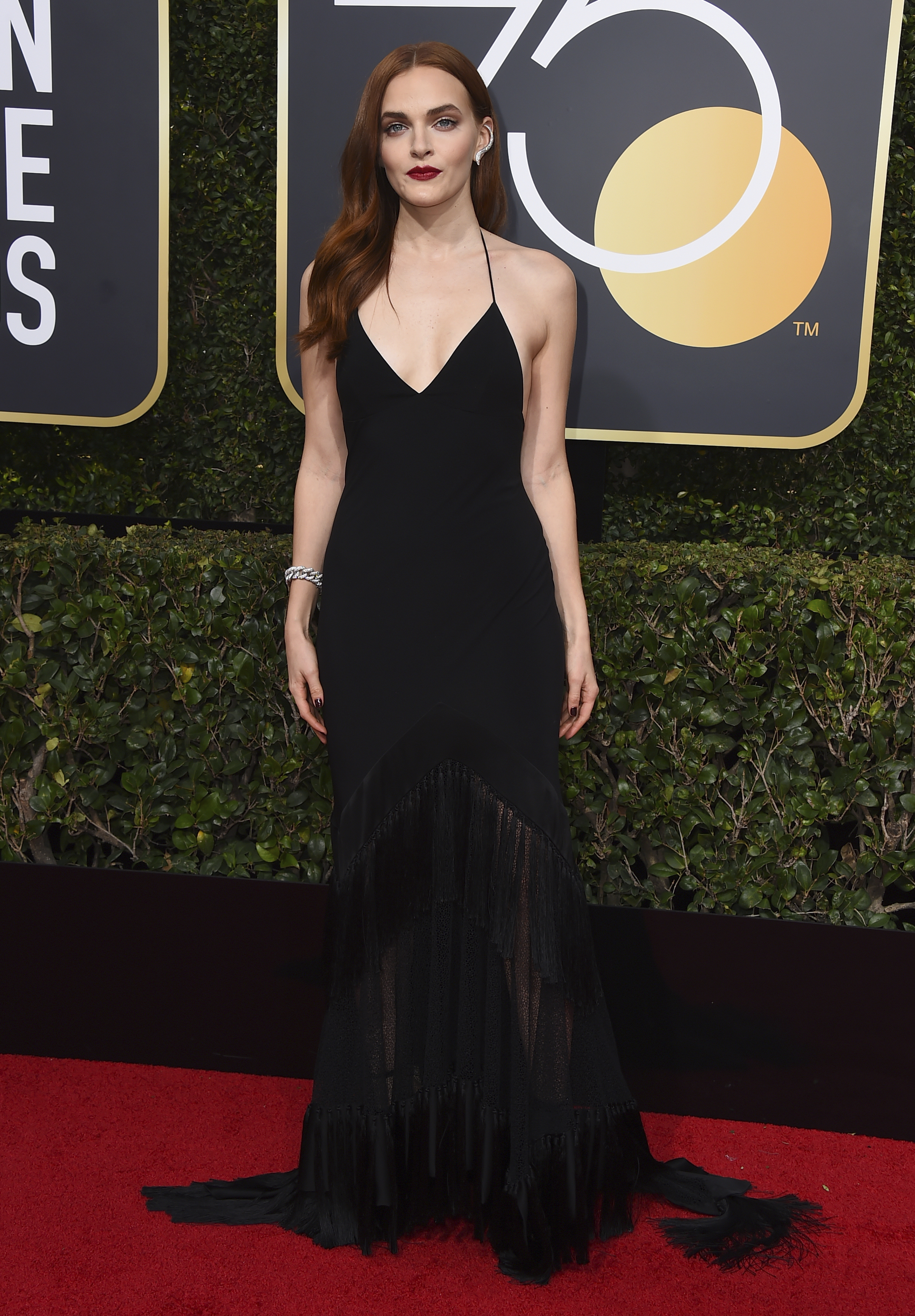<div class='meta'><div class='origin-logo' data-origin='AP'></div><span class='caption-text' data-credit='Jordan Strauss/Invision/AP'>Madeline Brewer arrives at the 75th annual Golden Globe Awards at the Beverly Hilton Hotel on Sunday, Jan. 7, 2018, in Beverly Hills, Calif.</span></div>