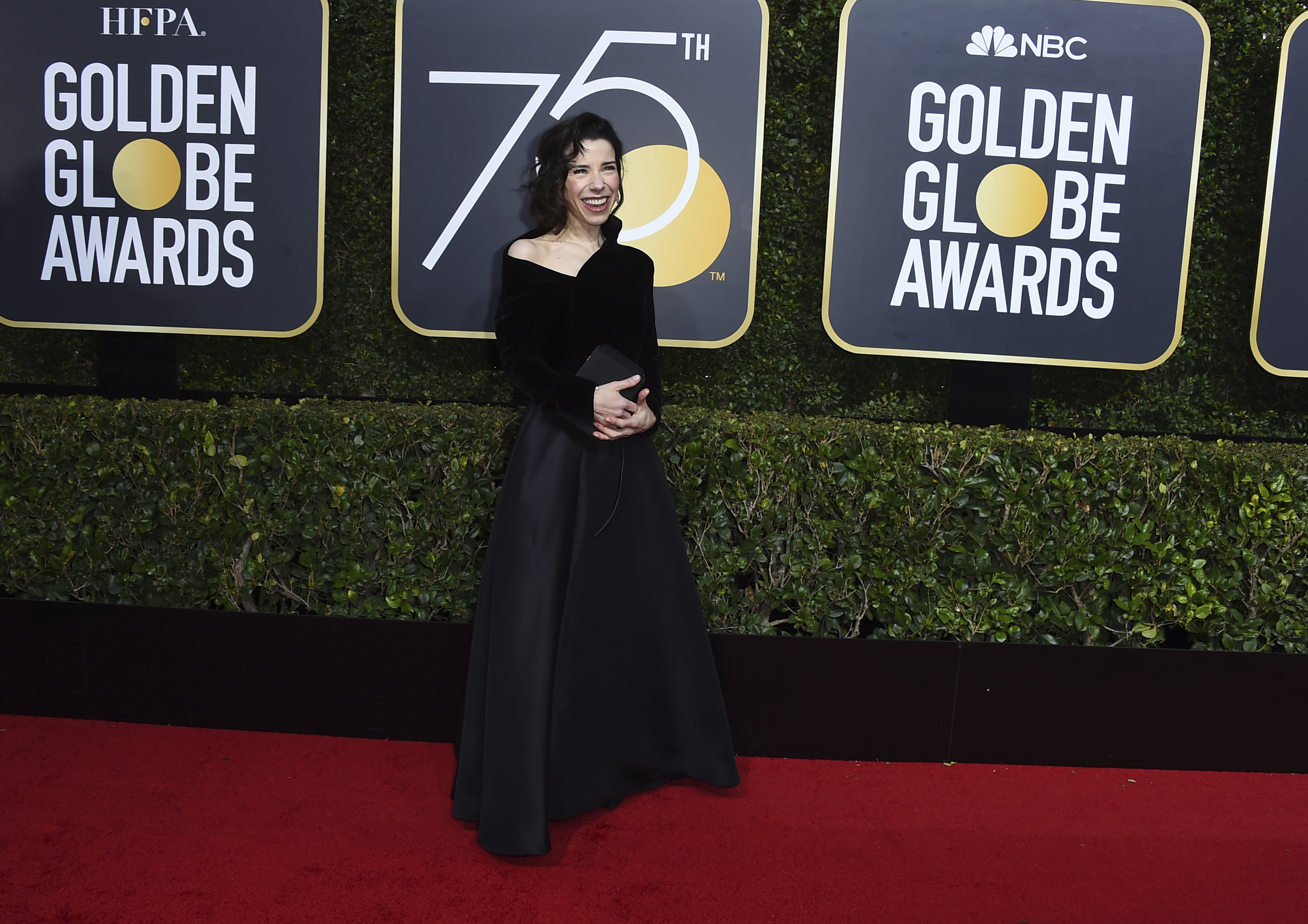 <div class='meta'><div class='origin-logo' data-origin='AP'></div><span class='caption-text' data-credit='Jordan Strauss/Invision/AP'>Sally Hawkins arrives at the 75th annual Golden Globe Awards at the Beverly Hilton Hotel on Sunday, Jan. 7, 2018, in Beverly Hills, Calif.</span></div>