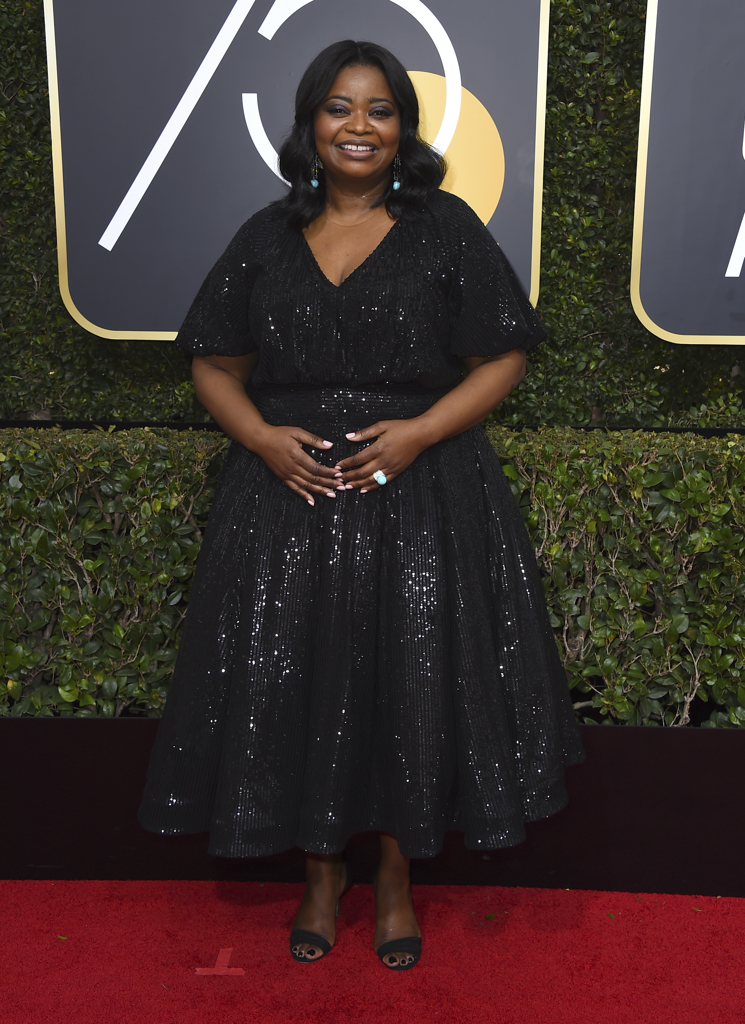 <div class='meta'><div class='origin-logo' data-origin='AP'></div><span class='caption-text' data-credit='Jordan Strauss/Invision/AP'>Octavia Spencer arrives at the 75th annual Golden Globe Awards at the Beverly Hilton Hotel on Sunday, Jan. 7, 2018, in Beverly Hills, Calif.</span></div>