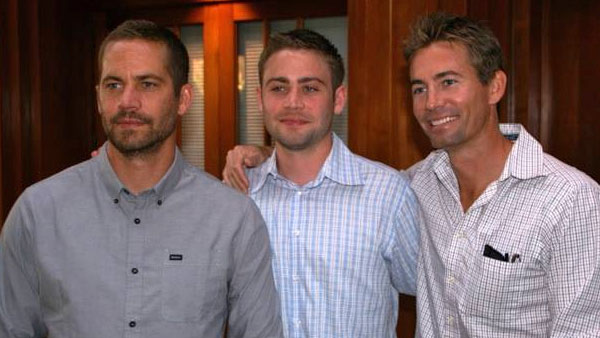 The late actor Paul Walker is seen with his brothers, Cody and Caleb, in this undated photo.