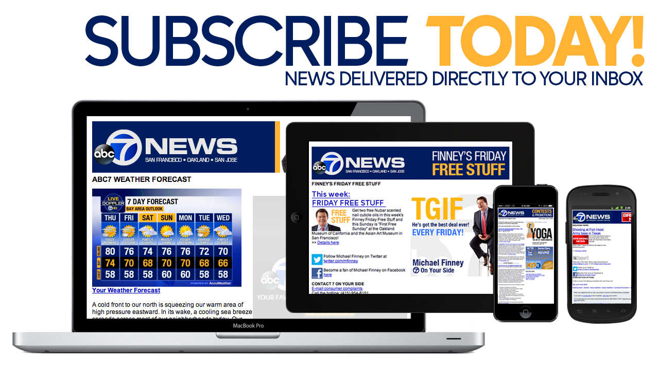 Sign up for free email newsletters from ABC7 | abc7news com