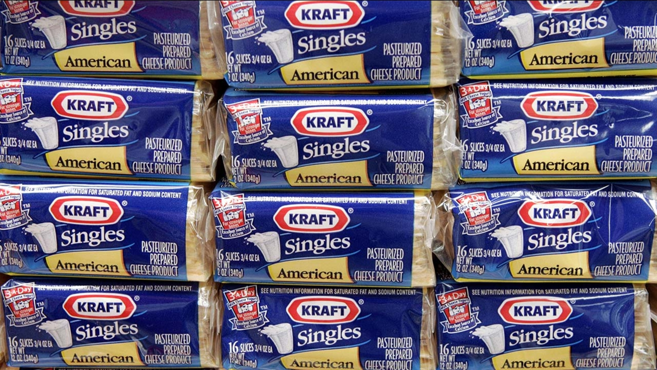 Packages of Kraft Singles are seen in this July 24, 2006 file photo, in Chicago.